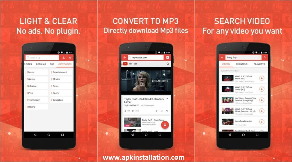 Snaptube modded apk for free download